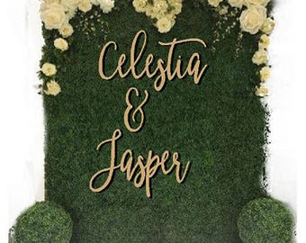 Extra Large words/ Names set of 2 for Floral walls and backdrops