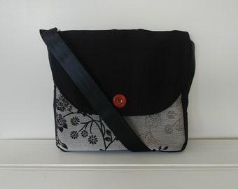 Messenger: Black and Grey Fabric