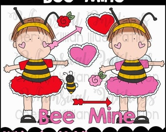 Bee Mine Clipart Collection- Immediate Download