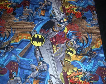Batman in Gotham city scenic Pillowcase with black  trim  - Fits Standard and Queen size pillows