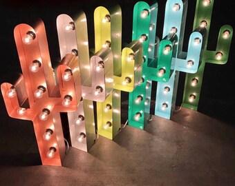 """24"""" marquee CACTUS, cactus light, light up cactus"""