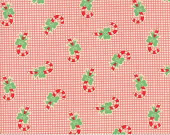Swell Christmas by Urban Chiks for Moda, #31124-12, Candy Canes Red, Vintage Christmas, Christmas Fabric, Christmas in July, IN STOCK