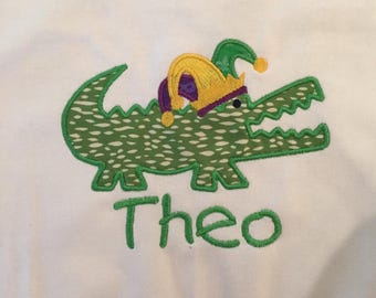Mardi Gras Alligator Shirt