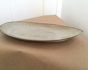 Vintage 1950s Mid Century Studio Pottery Tray Platter Dish