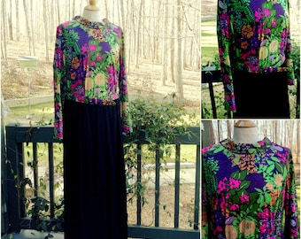 1970s Mod Floral Hippie Belted Dress Plus Size from Lane Bryant