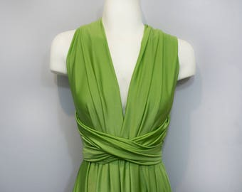 Moss Green Short Convertible Dress / Custom Size / Plus size & maternity included