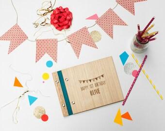 Birthday Book. First Birthday Album. Birthday Gift. First Birthday Party
