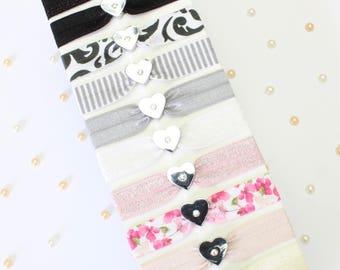 Teacher Gift - Heart Charm - Hair Tie - Hair Band - Present for Teacher - Pretty Gift