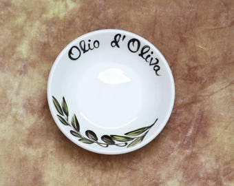 "4"" dipping dish w/ Olio d'Oliva"