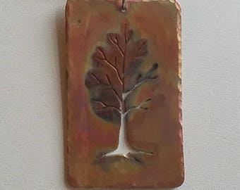 HANDMADE Copper Tree Pendant Necklace