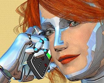 Telephone Tag - android, illustration, digital painting