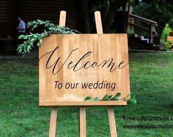 Wedding Signs Decals- Wedding Decals - Welcome Wedding Sign - Vinyl Wedding Decal - Vinyl Wedding Sign - Vinyl Welcome Wedding Signs
