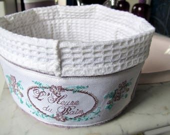 Purple grey bathroom basket