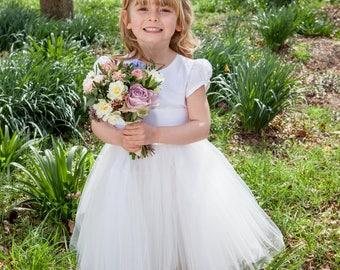Lucy Tutu Flower Girl Dress Silk/Tulle