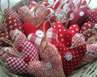 Mini Fabric Heart,