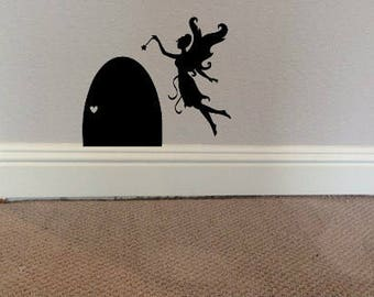 Fairy door decal, fairy decal, tooth fairy door, fairy, wall decal, Child's room decal