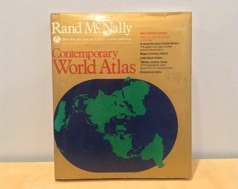 Vintage Rand McNally: Contemporary World Atlas