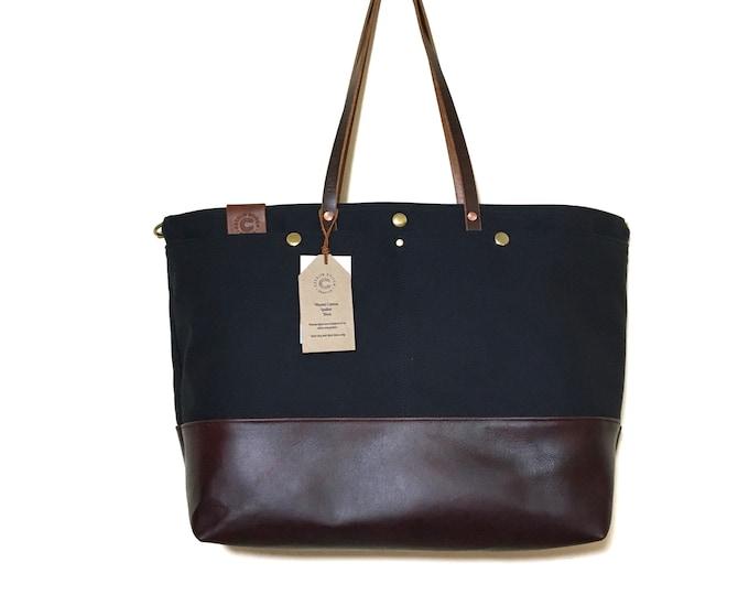 Flynn - Custom Canvas & Leather Diaper bag