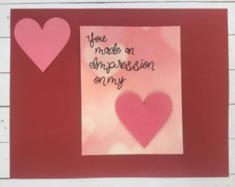 Handmade Valentine Card for loved one
