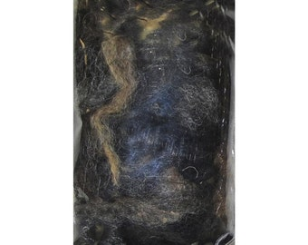 Wool Roving Fabric Black Gray Needle felting Felt Gift for mom her spinning fiber