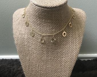 Gold Textured Dangle Choker