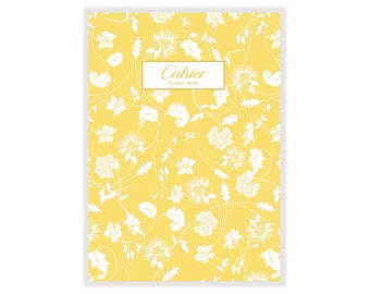 Yellow floral notebook
