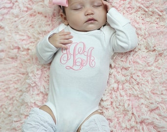 Baby Girl Clothes  Baby Girl Coming Home Outfit Baby Girl Gift Monogrammed Baby Girl Outfit Newborn Girl Clothes Newborn Girl Outfit