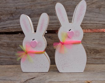 Easter Decor - Spring Decor - Easter Bunny Decor - Spring Bunnies