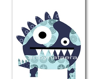 INSTANT Monster DOWNLOAD Print Baby Nursery Decor Nursery Digital Print Baby Boy Nursery Art Printable Art Digital Download Art 8x10 11X14