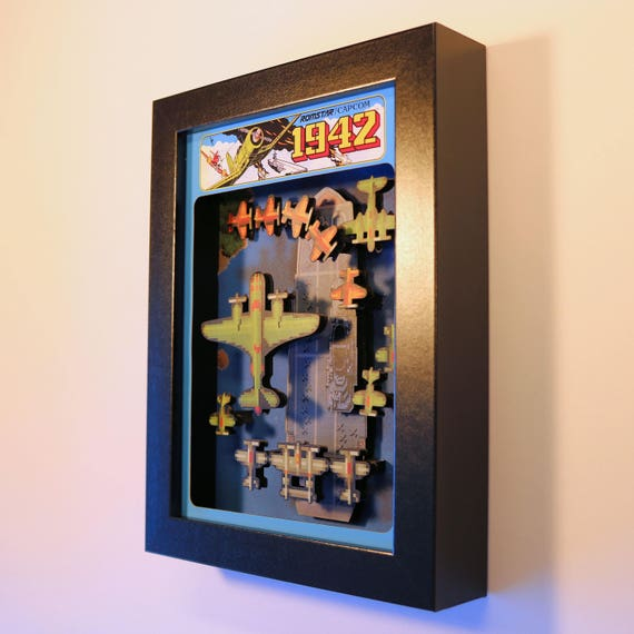 1942 Arcade Game Shadowbox Sculpture Diorama