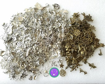Silver & bronze bulk charms, pick your own charms or get a random charm assortment,FAST shipping from USA, mixed charms 10/20/50 charms BCM