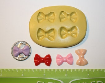 Bow Silicone Mold Chocolate Fondant Candy Flexible Cookie Decorating Cake Decorating Resin Polymer Clay Cupcake Topper Cake Pop