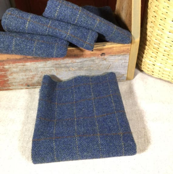 Bluejean Baby,  Mill Dyed Wool Fabric for Rug Hooking, Applique, Penny Rugs, Fiber Arts, Fat Quarter Yard  W280