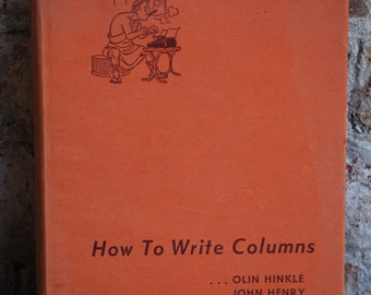 Vintage Book, How to Write Columns