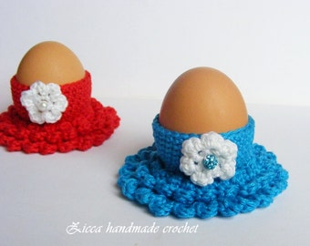 Crochet Easter egg cozy, egg holder pattern