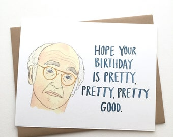 Curb Your Enthusiasm Birthday Card