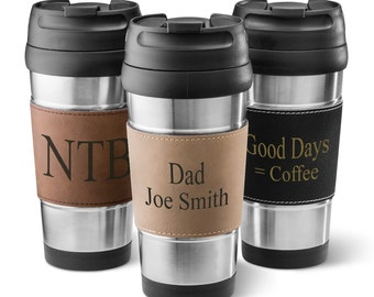 Personalized Stainless Steel Travel Coffee Tumbler - Personalized Coffee Tumblers -  Groomsman Gifts  - Gifts for Men - GC1362