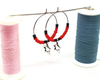 Small hoops Star-Red