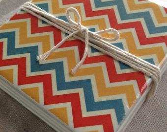 Ceramic Tile Coasters - Retro Style 018
