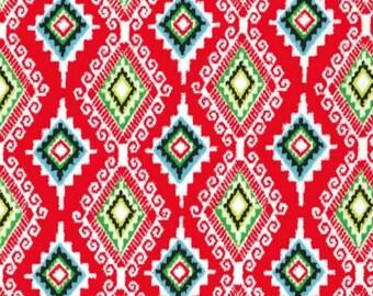 SALE - Michael Miller - Llama Navidad Collection - Felicia in Red