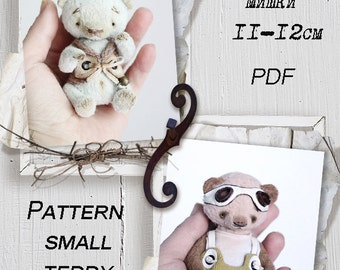 Teddy Bear PATTERN, small teddy bear pattern