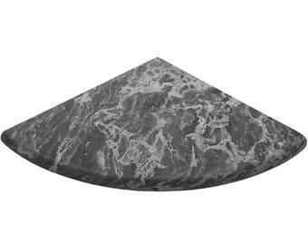 White Grey Marble Stone Bathroom Corner Shelf