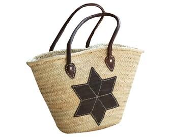 Basket Bag Star Leather