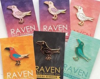 seconds Raven hard enamel pin 43 mm