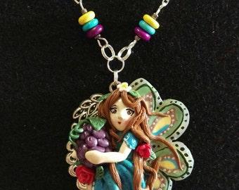 Fairy pendant with Berry