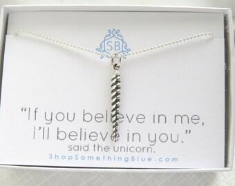 Unicorn Horn Necklace • Unicorn Horn Charm • Unicorn Lover • Magical Horn • Inspirational Gift • Best Friend Gift • Unicorn Jewelry