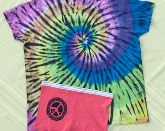 Peace of Ass tie dye Jammies t-shirt size 2XL undies boy short size 9