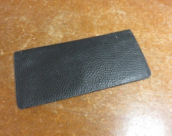 Antique Vintage Black Leather Billfold Wallet