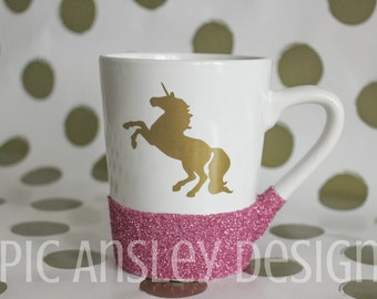 Unicorn Glitter Coffee Mug
