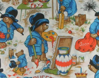 Rare Original Paddington Bear Buffet Cotton Fabric